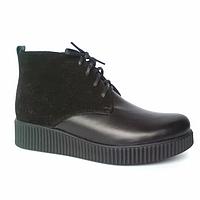 Женские ботинки из натуральной кожи замша