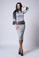 Женский трикотажный костюм с люрексом