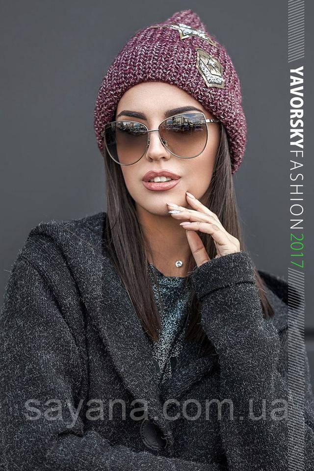 женская теплая шапка