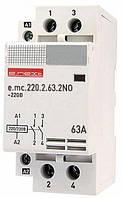 Модульний контактор e.mc.220.2.63.2NO 2р 63А 2NO 220В
