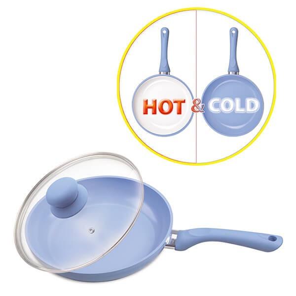 Сковорода индукционная 28 см (алюминий+керамика с индикатором нагрева Maestro MR 1224-28
