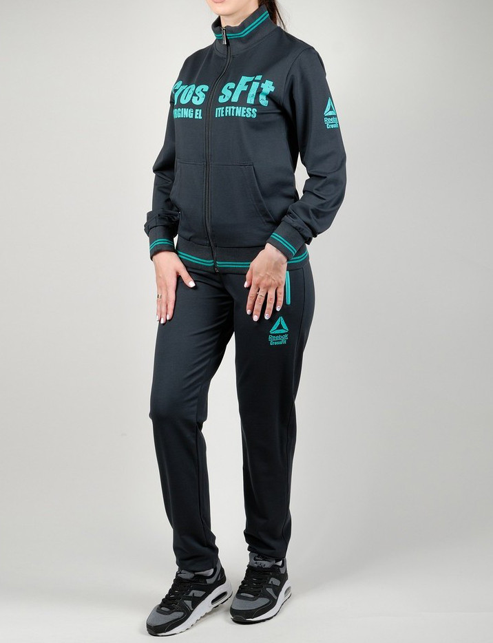Женский спортивный костюм REEBOK CROSSFIT 7252 темно-серый - купить ... 23edf8b61d56f