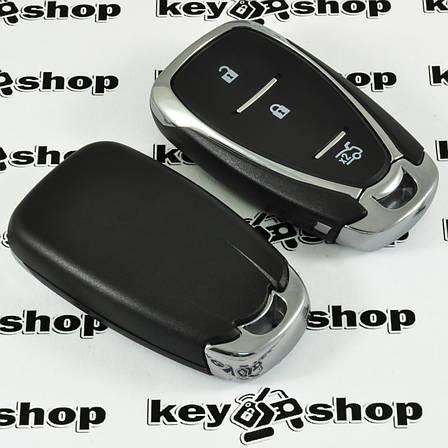 Корпус смарт ключа для Chevrolet (Шевролет) 3 - кнопки (с лезвием), фото 2