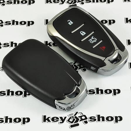 Корпус смарт ключа для Chevrolet (Шевролет) 3+1 (panic) кнопки (с лезвием), фото 2