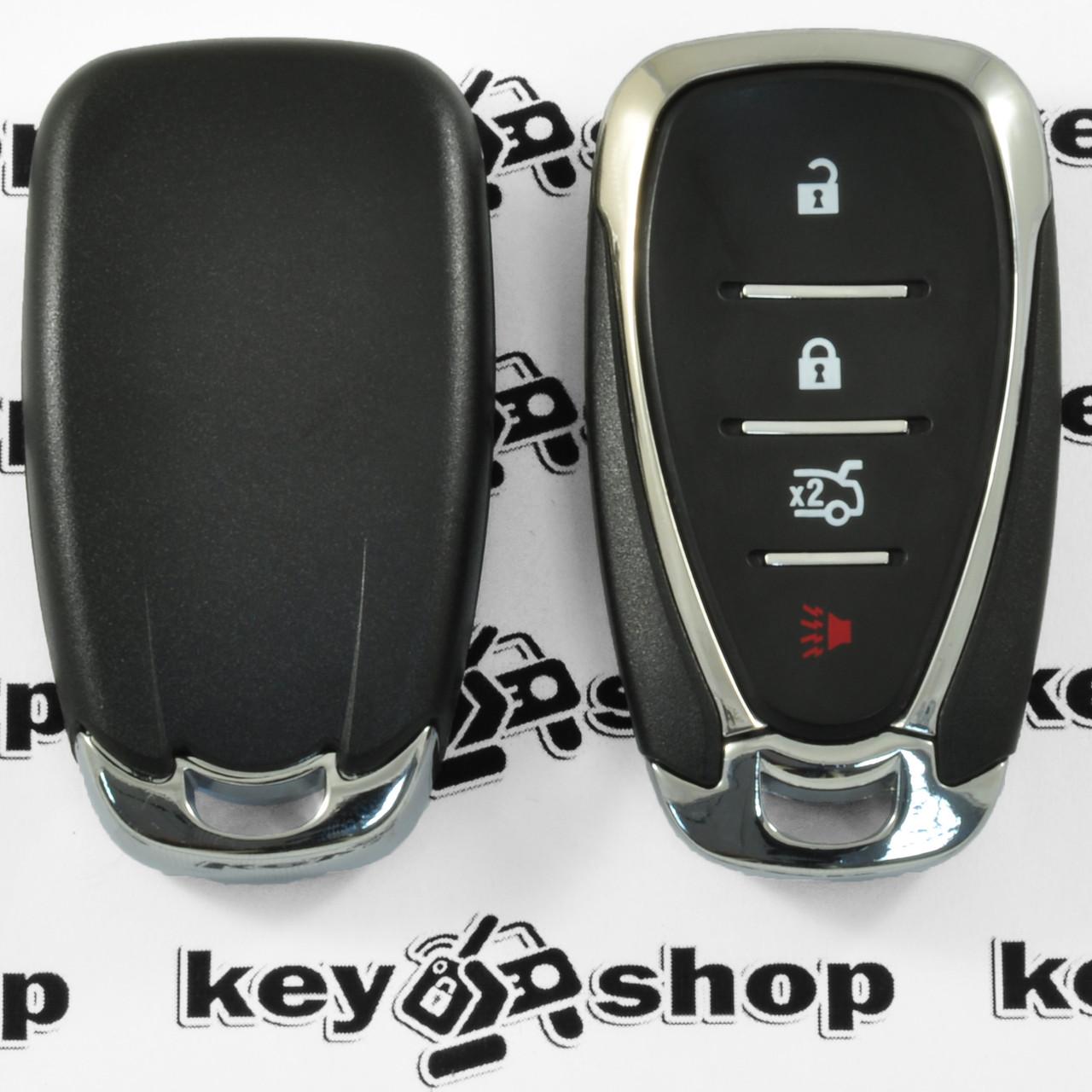 Корпус смарт ключа для Chevrolet (Шевролет) 3+1 (panic) кнопки (с лезвием)