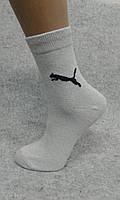 "Женский носок,хлопок,Спорт гладь, белый,""ПУМА"" ТМ ""ANGELO BUONO"""