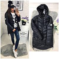 Куртка-парка зима (арт. 300) черный