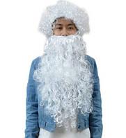 Парик + борода Деда Мороза Санта Клауса белый