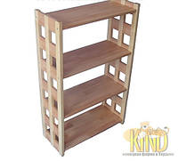 Деревянная этажерка на 3 полки (73х59,5х27см, бук и береза) ШТ 113