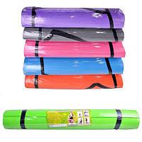 Йогамат M 0380 гимнастический коврик, EVA, 6 цветов, 173-60см, толщина 3,5 мм