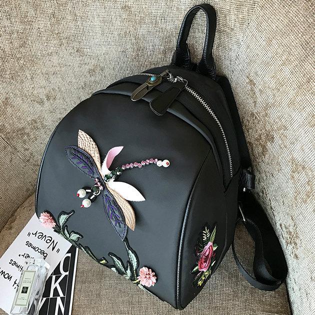 Женский мини рюкзак со Стрекозой