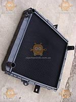 Радиатор охлаждения МАЗ 64229 (4-х рядный медный) (основной радиатор) (пр-во Россия)