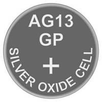Батарейка часовая серебро-цинк, Silver oxide G13 (357, SR44, SR44W) GP 1.55V