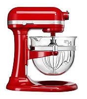 Планетарный миксер со стеклянной чашей KitchenAid Artisan IKSM6521XEER 6.0 л, красный