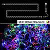 Гирлянда нить светодиодная 100 LED, RGB (мультицвет), силиконовый провод, 9 м, фото 2