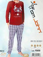 Пижама мужская со штанами в клетку