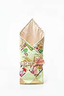 """Конверт-одеяло для новорожденных """"цветное в лисички"""""""