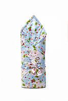 """Конверт-одеяло для новорожденных """"розово-голубые овечки"""""""