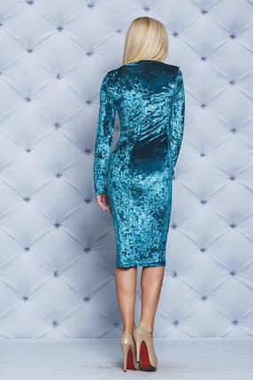 Женское велюровое платье, фото 2