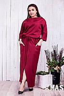 Стильное женское платье в пол в расцветках ( размеры 50-52,54-56,58-60) 22770