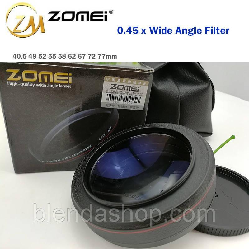 "Широкоугольная насадка - оптический конвертер, ""wide-angle"" - ZOMEI - 77 мм - 0.45x"