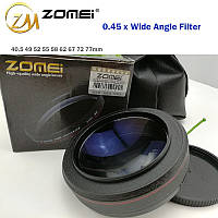 "Широкоугольная насадка - оптический конвертер, ""wide-angle"" - ZOMEI - 77 мм - 0.45x, фото 1"