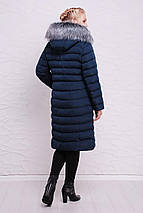 Зимний длинный женский пуховик 46.48 рр волна, фото 3