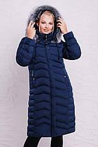 Зимний длинный женский пуховик 46.48 рр волна, фото 2