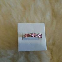Розовый топаз. Серебряное кольцо, фото 1