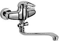 PILOT Смеситель для ванны однорычажный, излив 350 мм, хром 40мм