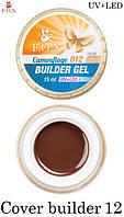 "Камуфлирующий гель F.O.X Cover ""12"" (camouflage) builder gel UV+LED, фото 1"