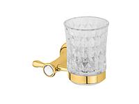Стакан для зубных щеток KUGU Bavaria 306G (латунь, золото, стекло)