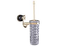 Ершик настенный KUGU Diamond 1105G  (латунь, золото, стекло)(Бесплатная доставка  )