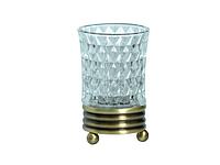 Стакан для зубных щеток KUGU Hestia antique  Freestand 950A (латунь, бронза, стекло)(Бесплатная доставка  )