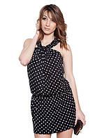 Оригинальное летнее платье в горох (XS-M)