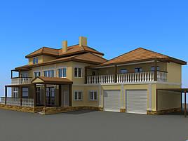 Проект частного жилого дома 500м2 1