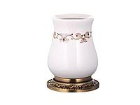 Стакан для зубных щеток KUGU Medusa Freestand 750A (латунь, бронза, керамика)(Бесплатная доставка  )