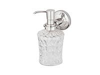 Дозатор для жидкого мыла KUGU Maximus 614C (латунь, хром, стекло)(Бесплатная доставка  )