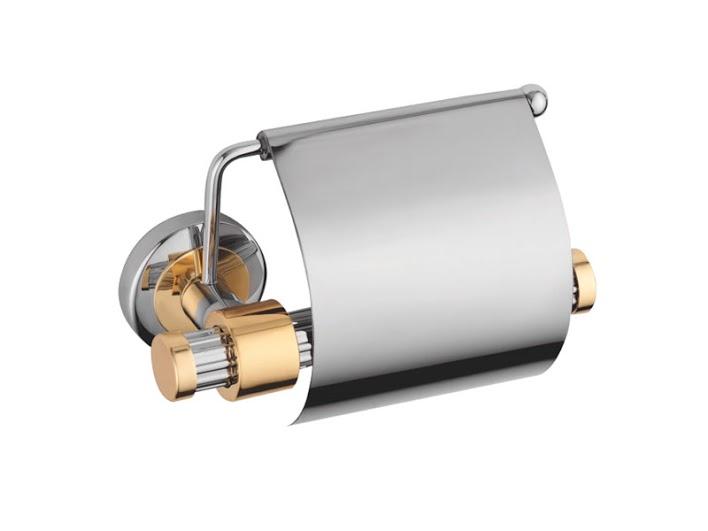 Держатель для туалетной бумаги KUGU Maximus 611C&G (латунь, хром, золото)