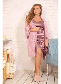 Женский комплект Звезда фрез+св.розовый / размер 48-72 / большие размеры