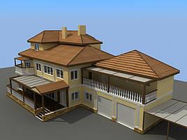 Проект частного жилого дома 500м2 2