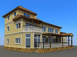 Проект частного жилого дома 500м2 3