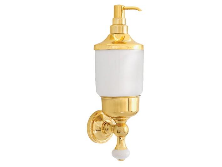 Дозатор для жидкого мыла KUGU Pan 014G (латунь, золото, керамика)