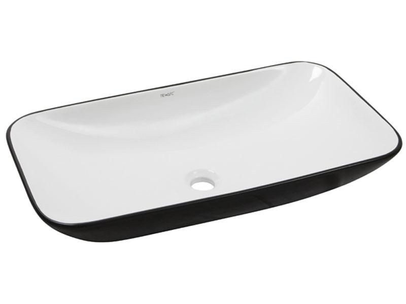 Раковина накладная керамическая NEWARC Countertop 70 (5019BW) черный/белый, б/п, (40*70*13.5)
