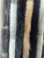 Пояс из меха норки черный, коричневый, серый, голубой
