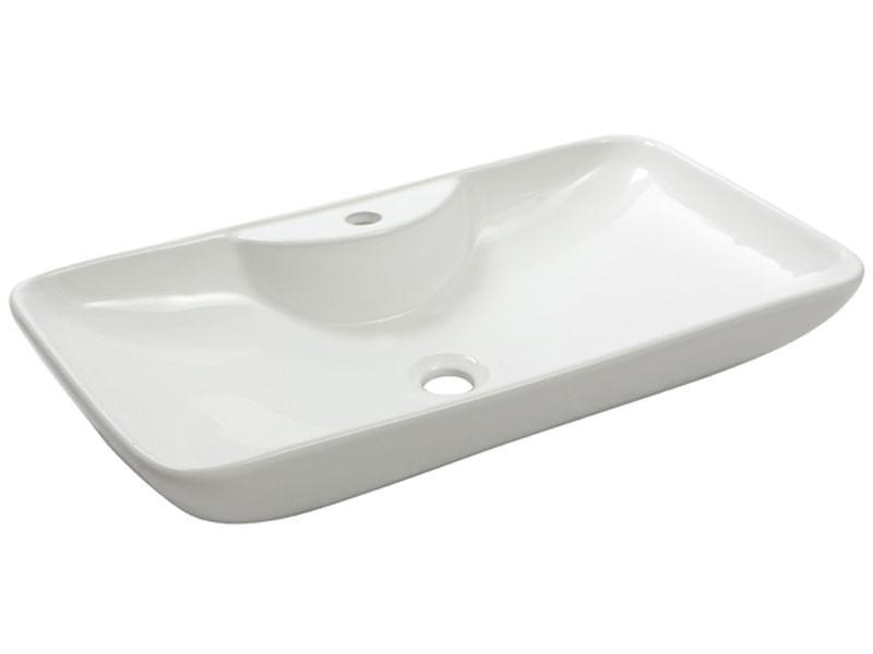 Раковина накладная керамическая NEWARC Countertop 70 (5019BT) белый, б/п, (40*70*13.5)