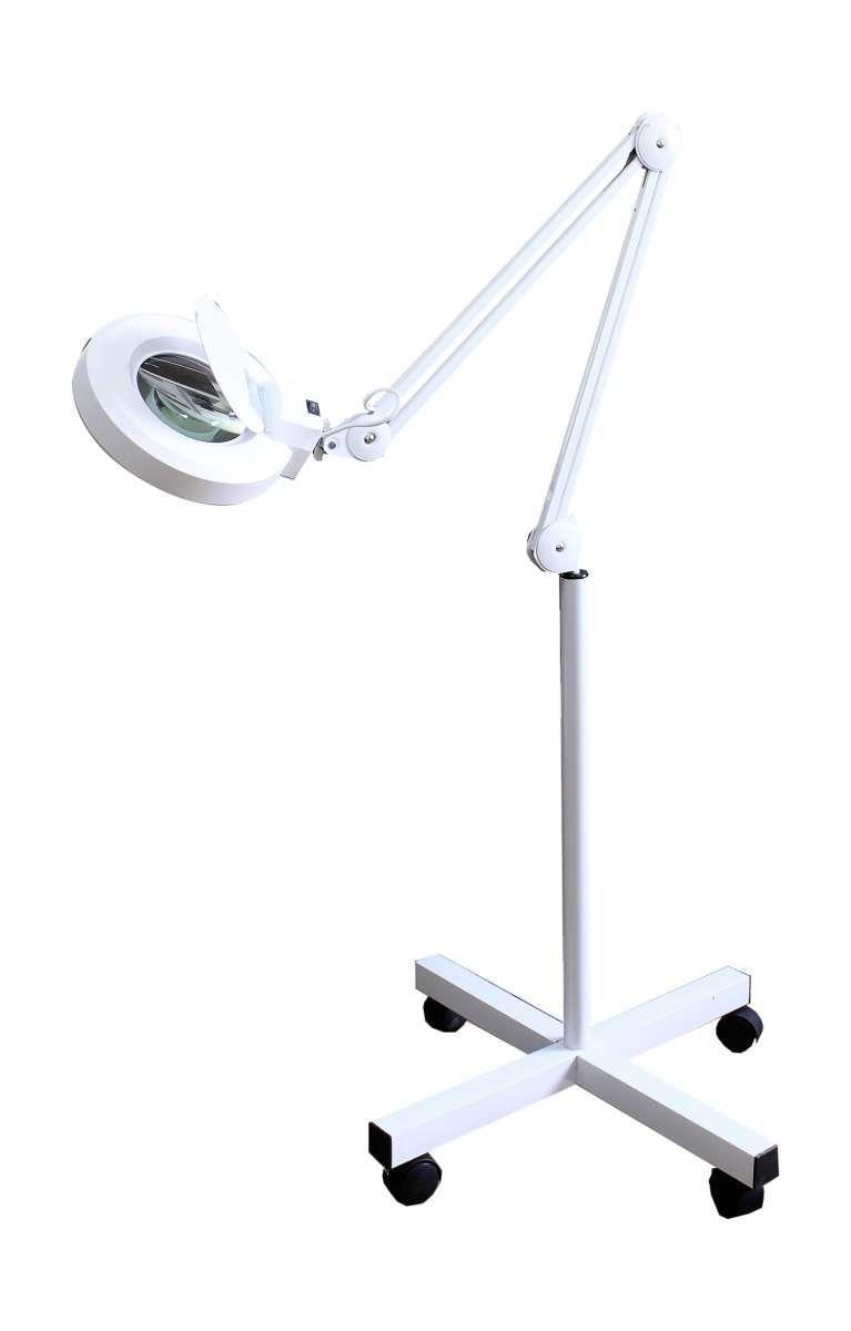 Лампа-лупа напольная на крестовине LED (светодиодная) на крестовине