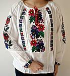 Красивая вышитая блуза Мальвы из домотканого полотна, фото 3