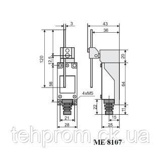 Выключатель концевой МЕ-8107, фото 2