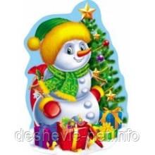 """Плакат для декора """"Снеговик"""""""